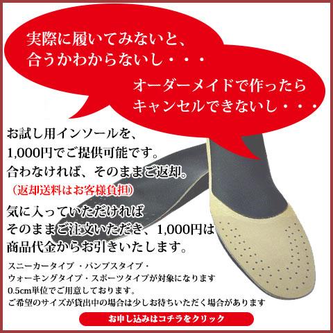 お試しインソール 1000円